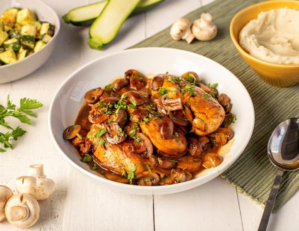 Oyster Sauce Braised Chicken with Mushrooms